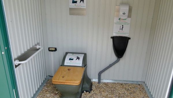 An Ecosan waterless toilet